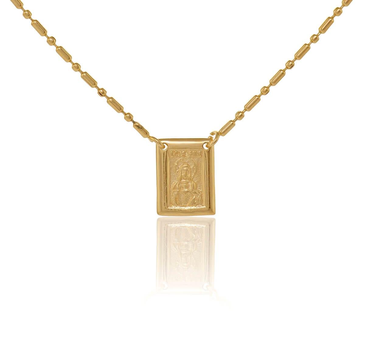 Escapulário Folheado a Ouro dourado 60cm